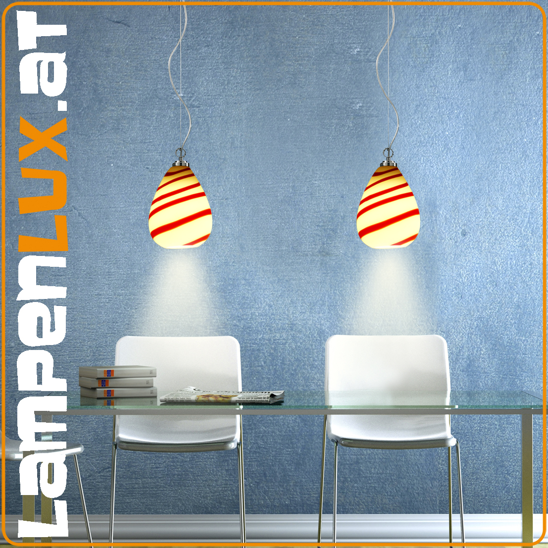 led designer lampe viele farben 60w murano glas top lampe neu ovp uvp 221 ebay. Black Bedroom Furniture Sets. Home Design Ideas