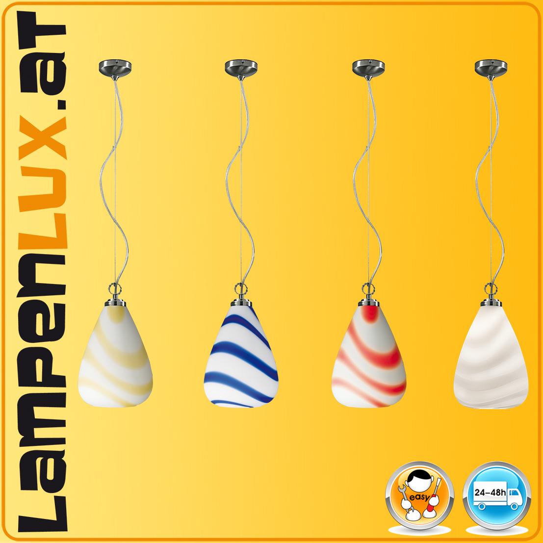 Led designer lampe viele farben w murano glas top