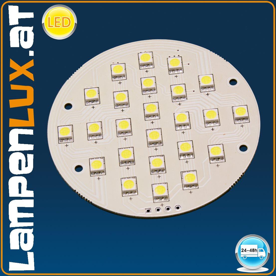lampenlux led tw platine leuchtmittel 80 mm 4 5 watt 24 volt mit 24 smd led s ebay. Black Bedroom Furniture Sets. Home Design Ideas