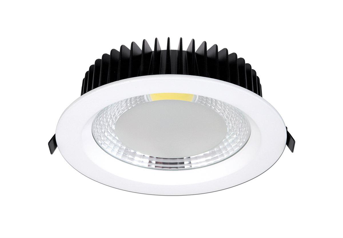 led einbau strahler decken spot wand leuchte bad wohnzimmer lampe wei rund ip44 ebay. Black Bedroom Furniture Sets. Home Design Ideas