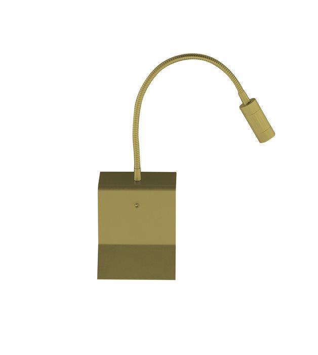 Lampenlux LED Wandlampe Wandleuchte Uno Leselampe Leseleuchte Downlight Schalter Schwanenhals Flexiarm Bettleuchte Bettlampe Nickel Gold Schwarz