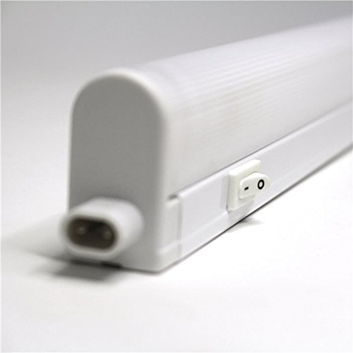 Lampenlux T5 Unterbauleuchte Macky Unterbaulampe Wandlampe Wandleuchte Küchenlampe Küchenleuchte Aufbaulampe Schalter 25cm - 150cm Weiß 230V