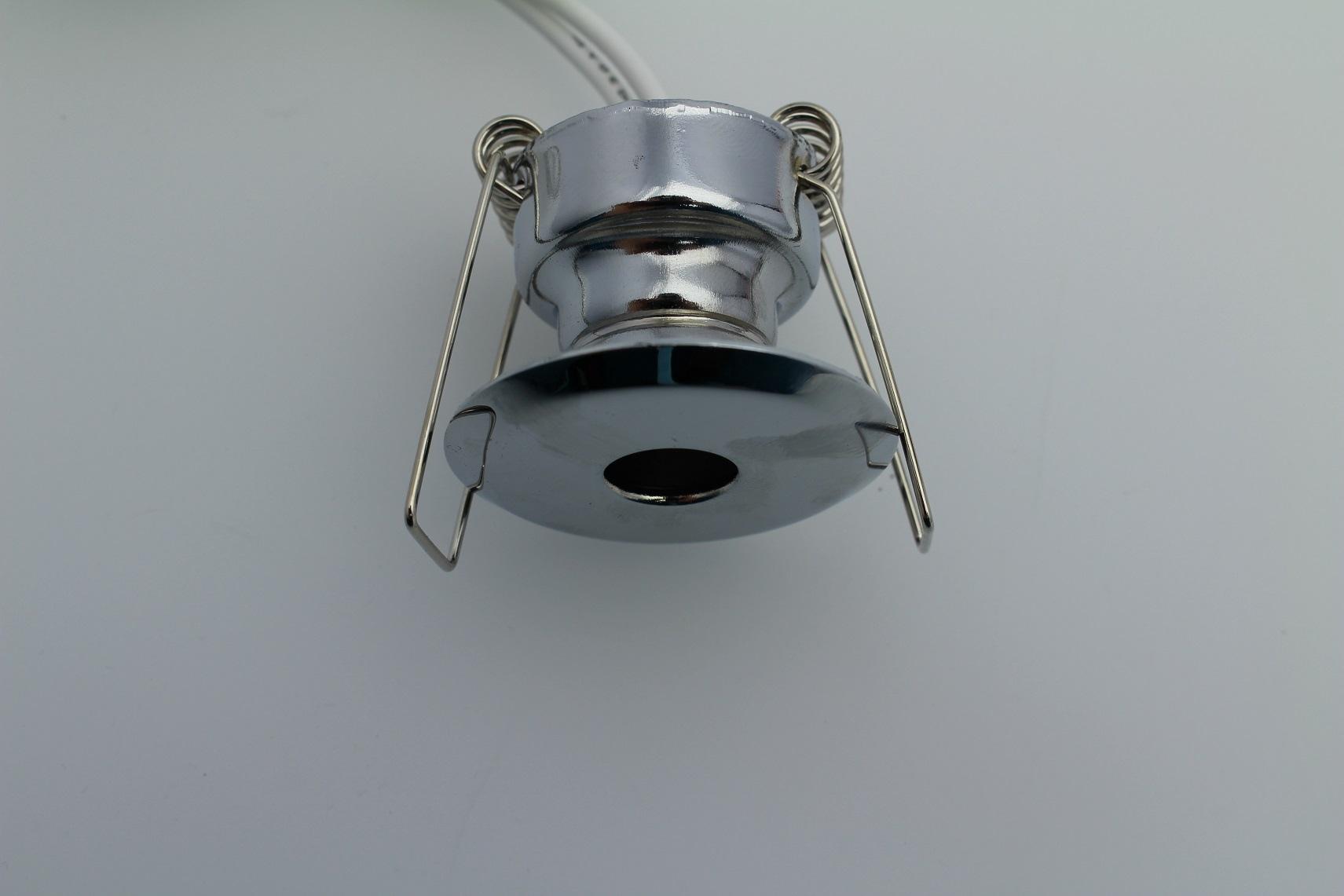Lampenlux Einbaustrahler Punas Ø 4 cm Chrom 12V 20W G4