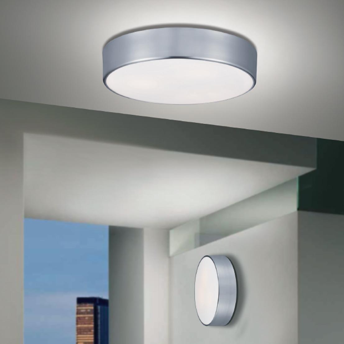 Lampenlux Deckenlampe Deckenleuchte Dago Glasschirm nickel satiniert G9/E27 Ø:16/32/40cm