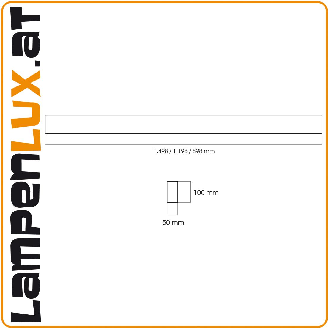 Lampenlux Deckenleuchte Deckenlampe Davia silber T5 21/28W Länge: 90/120 cm