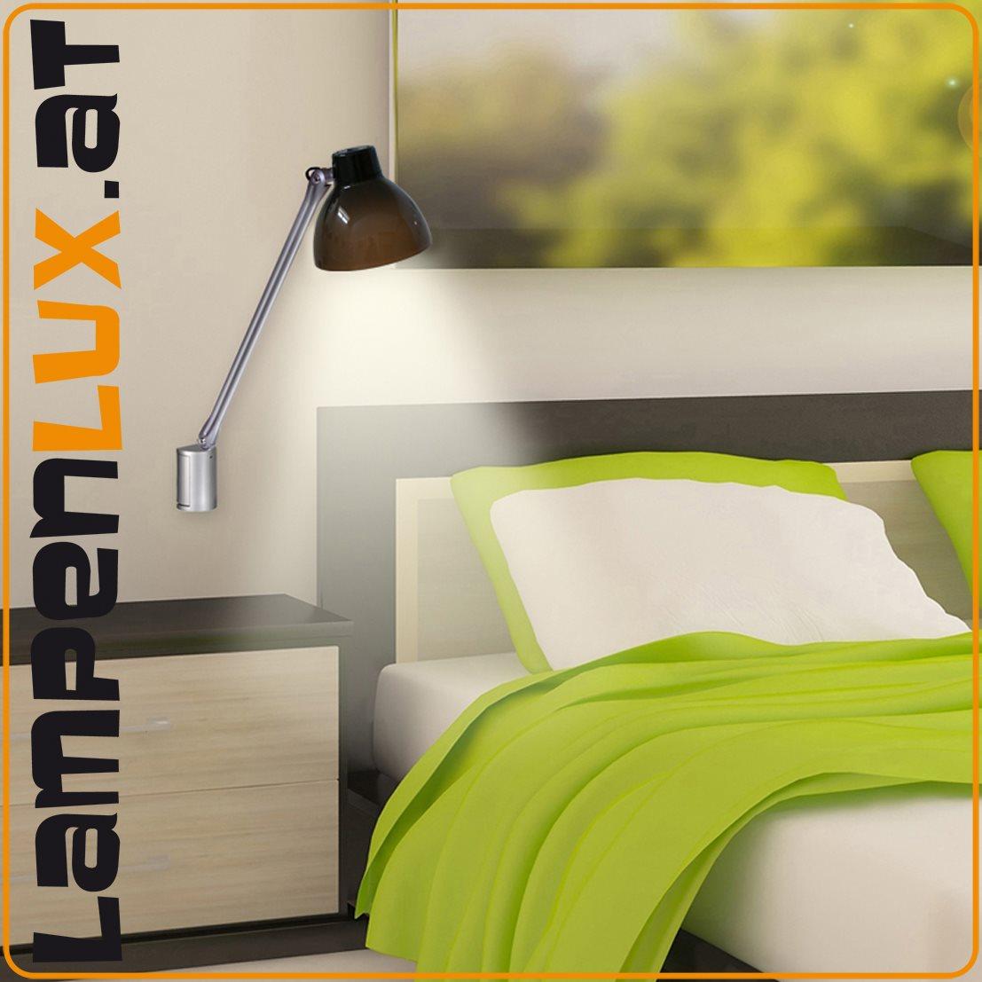 lampenlux led bettlampe pluto bettleuchte wandlampe. Black Bedroom Furniture Sets. Home Design Ideas