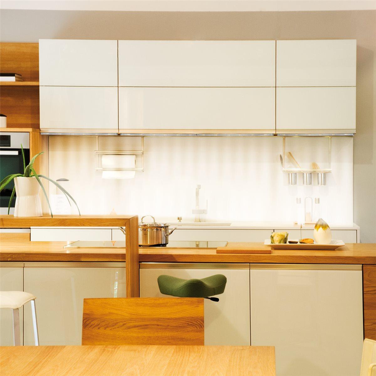 Lampenlux LED Unterbauleuchte Akani Unterbaulampe Küchenleuchte Küchenlampe Aufbauleuchte Aufbaulampe sehr flach Aluminium 230V 30cm - 90cm