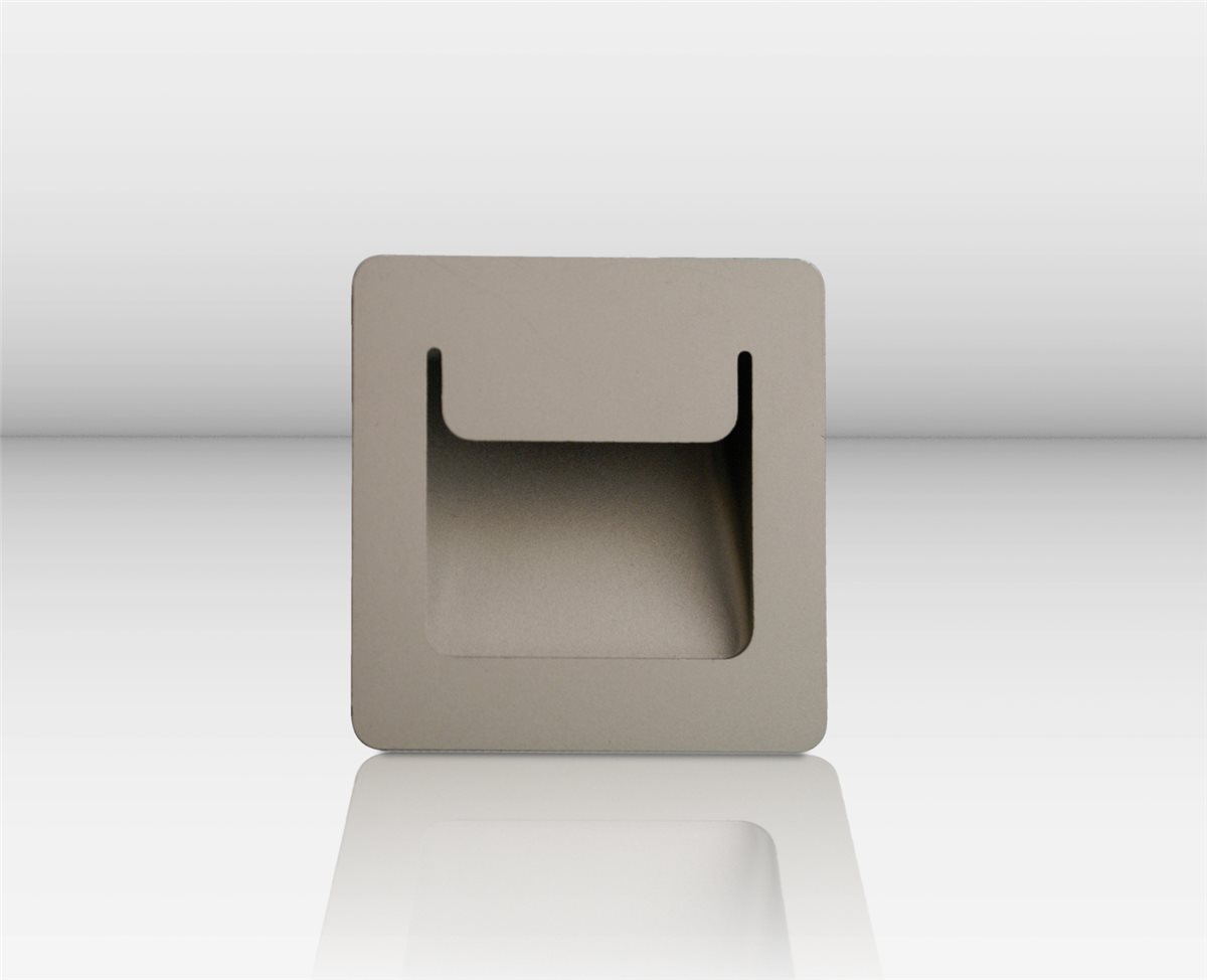 Lampenlux LED-Einbaustrahler Spot Ranma eckig silber 8x8cm  inkl Einbaubox und TrafoEinbauleuchte Einbaulampe Einbauspot Spot Strahler Punktstrahler Aluminium Downlight Down Deckeneinbaustrahler Deckeneinbauleuchte