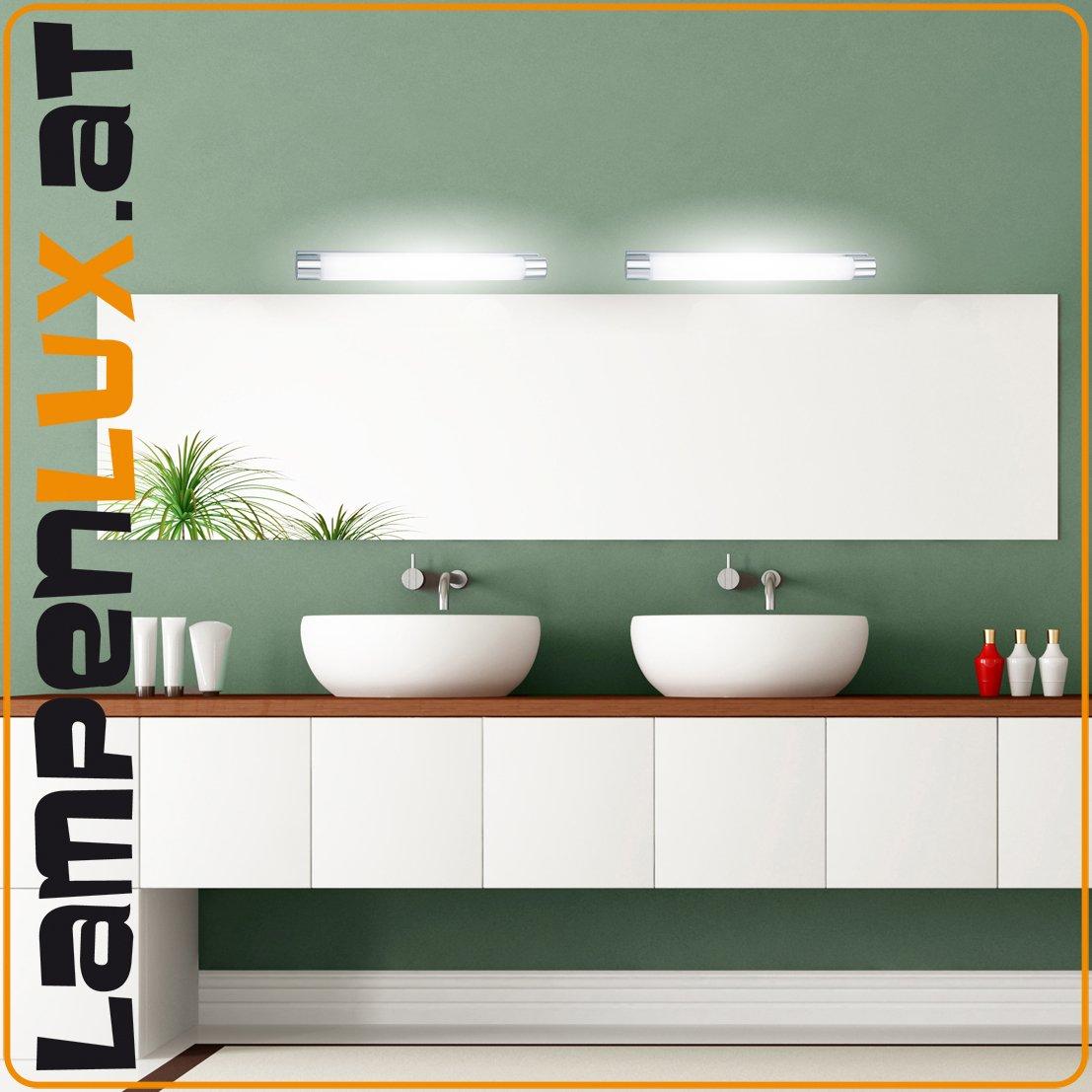 Lampenlux Wandlampe Prado Wandleuchte Badlampe Küchenlampe Küchenleuchte Spiegelleuchte Unterbauleuchte Aluminium 37-70cm IP44 Gold Chrom Nickel