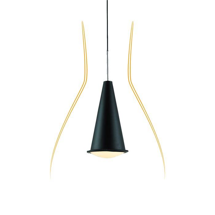 lampenlux led pendelleuchte baro h ngeleuchte schwarz bauhaus h henverstellbar baro. Black Bedroom Furniture Sets. Home Design Ideas