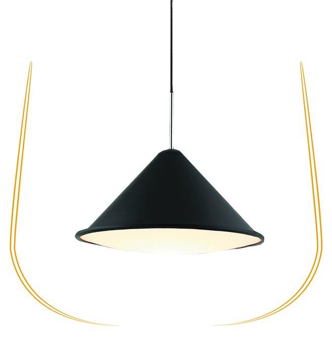 Lampenlux LED Pendelleuchte Blaze Hängeleuchte Schwarz Bauhaus Höhenverstellbar