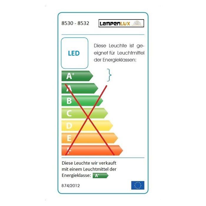Lampenlux LED Unterbauleuchte Aida Küchenleuchte Aufbaulampe Silber Stromkabel