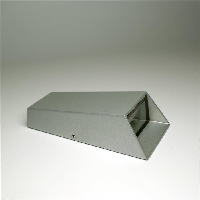 Lampenlux LED Außenleuchte Kai Wandlampe Wandleuchte Up Down Alu Grau IP54 Tür