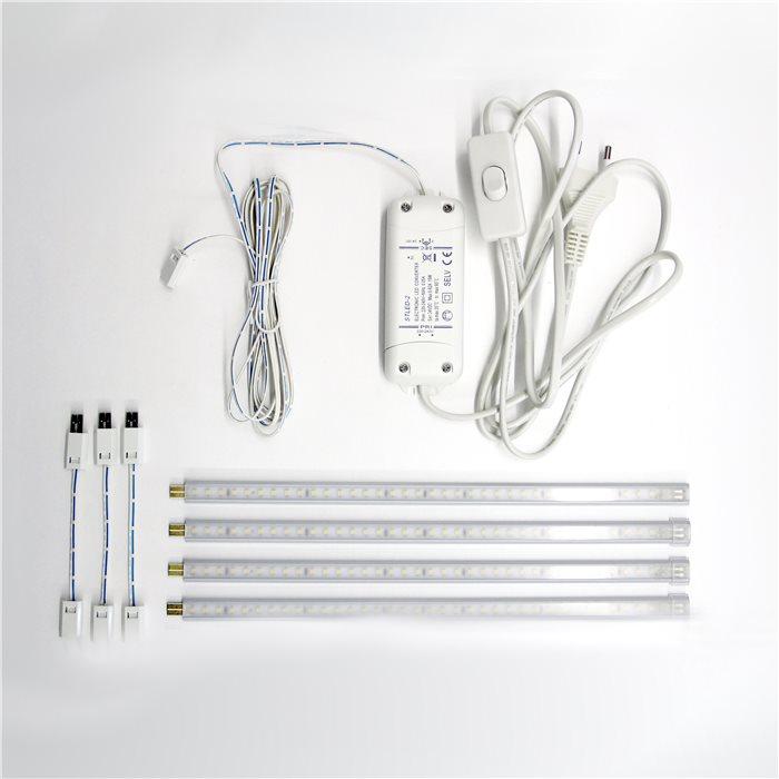 LED Aluminium Strip Streifen Unterbauleuchte Thor 230V 1,2m 3000K steckbar