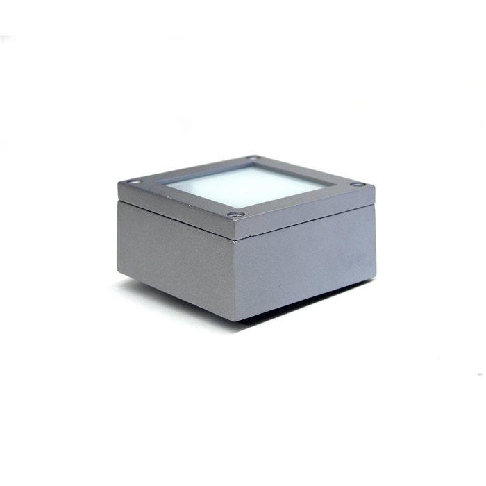 Lampenlux LED Aufbaustrahler Außenleuchte ROBI 230V rechteckig grau 1.5W IP54