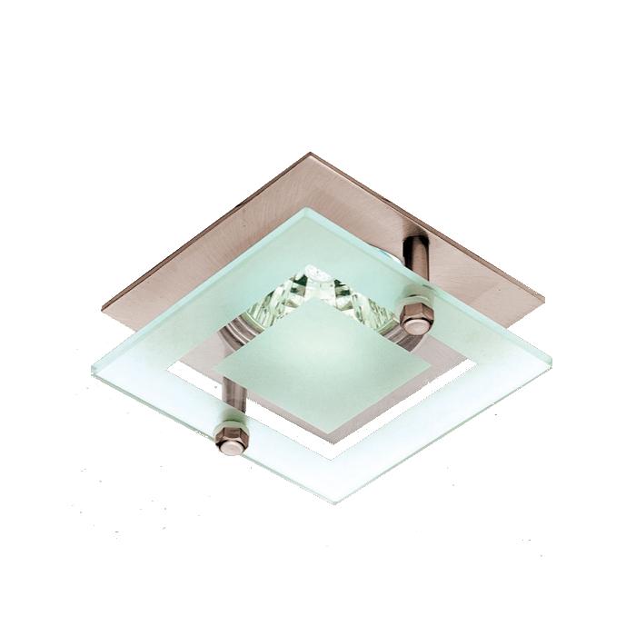 Lampenlux LED-Einbaustrahler Spot SATO Glas MR16 GU10 7.5x7.5cm rostfrei Aluminium
