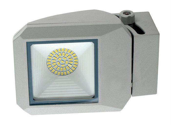 Lampenlux LED Aussenleuchte Apoll Grau 17W Gartenlampe Bewegungsmelder Wegeleuchte IP65 Spot Strahler Aufbauspot