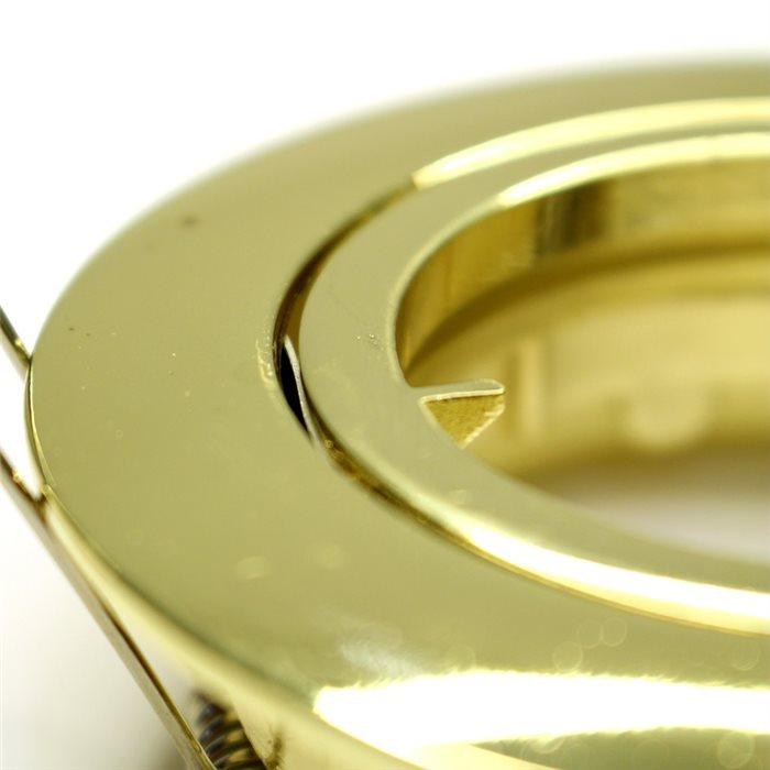 Lampenlux LED-Einbaustrahler Spot Samila rund schwenkbar gold rostfrei 8.3cm GU10Einbauleuchte Einbaulampe Einbauspot Spot Strahler Punktstrahler Aluminium Downlight Down Deckeneinbaustrahler Deckeneinbauleuchte