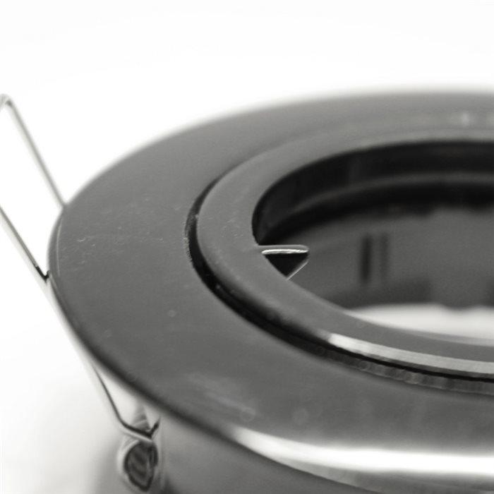 Lampenlux LED-Einbaustrahler Spot Samila rund schwenkbar schwarz rostfrei 8.3cm GU10 230VEinbauleuchte Einbaulampe Einbauspot Spot Strahler Punktstrahler Aluminium Downlight Down Deckeneinbaustrahler Deckeneinbauleuchte