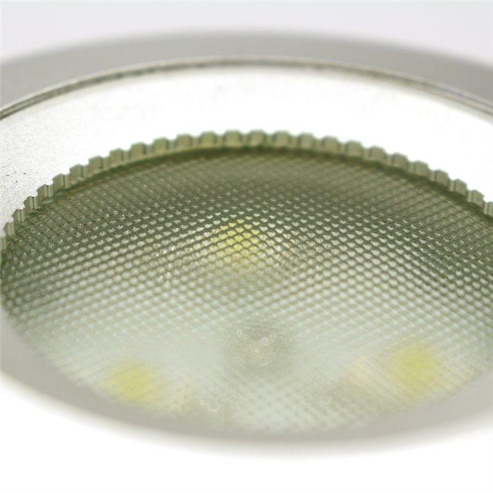 Lampenlux LED Einbaustrahler Robin Aussenleuchte 12V Silber Badlampe Spot Ø8,3cm
