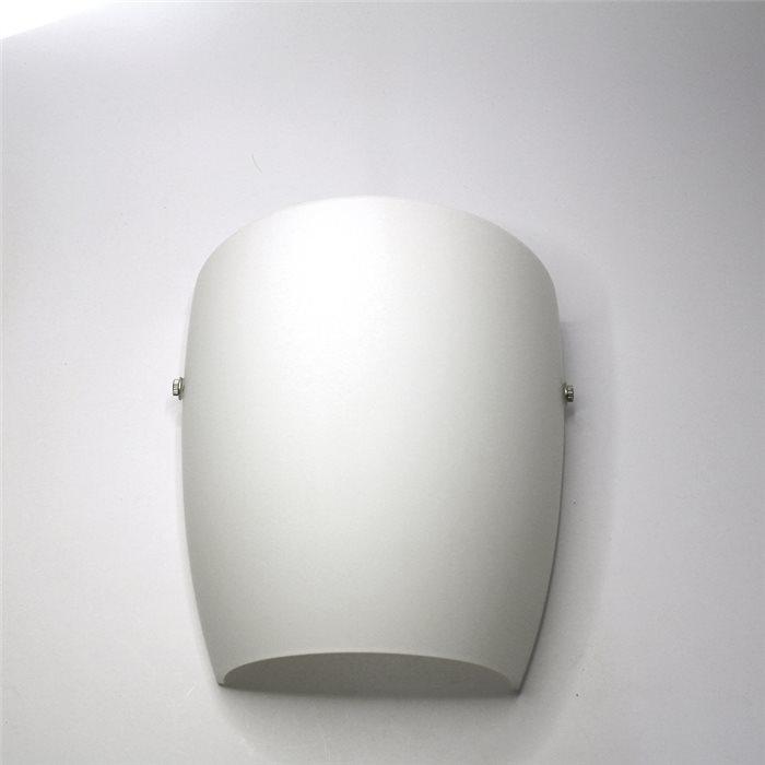 Lampenlux LED Wandlampe Wandleuchte Ajbo Up Down Stimmungslicht Glas Opal Weiß Badleuchte