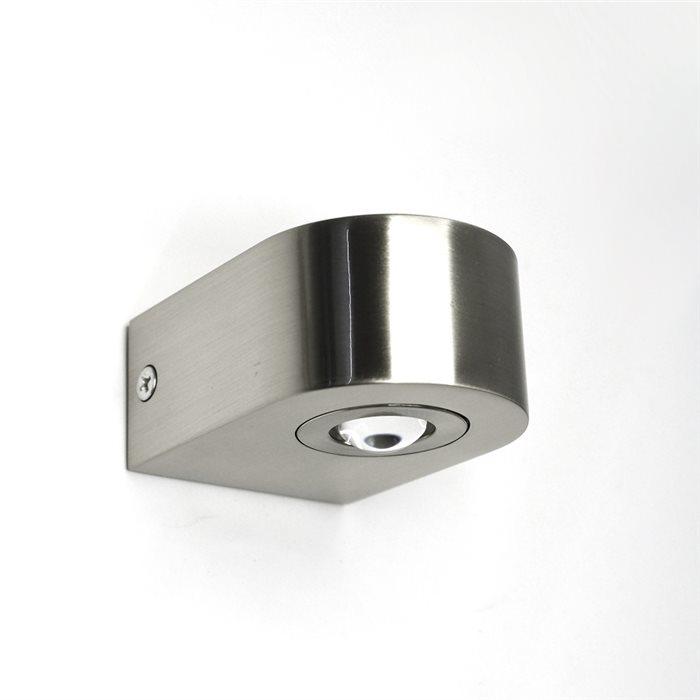Lampenlux LED Wandlampe Ramses Spiegelleuchte Bilderlampe Silber Badleuchte Alu Wandleuchte