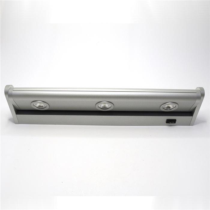 Lampenlux LED Unterbauleuchte Maiko Küchenleuchte Aufbaulampe Schalter schwenkbar Kabel