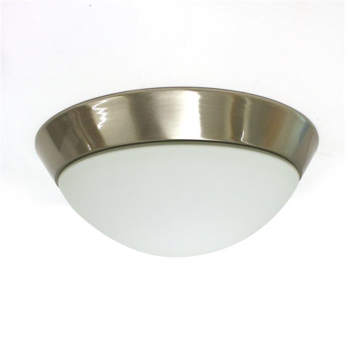 Lampenlux LED Aussenleuchte Dodo IP44 230V Deckenlampe Badlampe Rund Glas Fassung E27 Ø28cm - Ø40cm Terasse Gold Nickel Chrom Badezimmer Flur Deckenleuchte