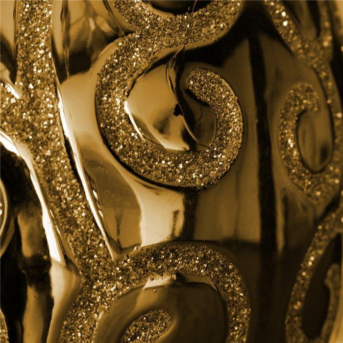 Lampenlux LED Tischlampe Bea Nachttischlampe Bettleuchte Deko Gold Weiß glänzend