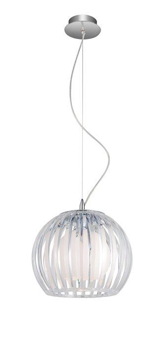 Lampenlux LED Pendellampe Pendelleuchte Bonzo Glasschirm Weiß / Klar Ø 20cm / 30cm / 46cm Glas Schirm