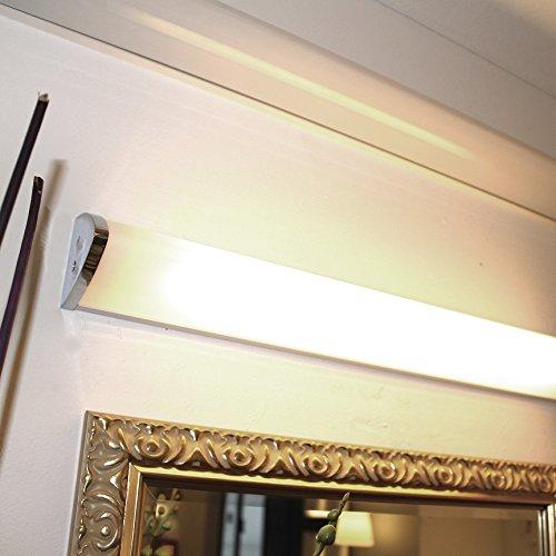 Lampenlux Wandlampe Ida Wandleuchte Badlampe Küchenlampe Küchenleuchte Spiegelleuchte Unterbauleuchte Unterbaulampe Aluminium IP44 Chrom Weiß