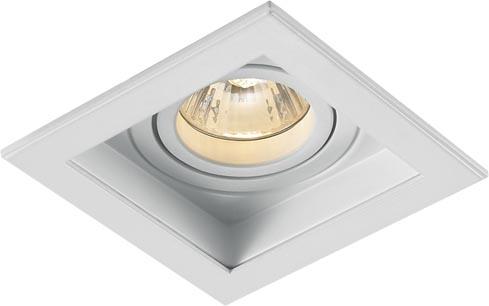 Lampenlux LED-Einbaustrahler Spot Scout eckig weiß dreh- und schwenkbar 10.6x10.6cm