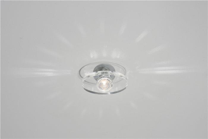 Lampenlux LED-Einbaustrahler Spot Rachel rund Glas Tranparent 12V MR16 rostfrei