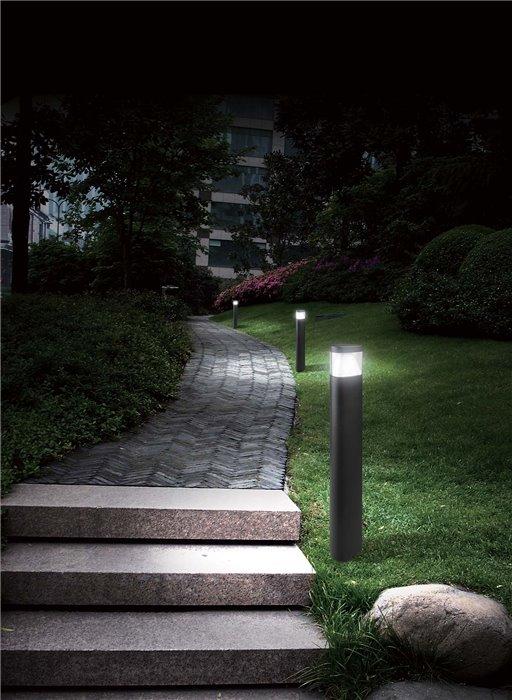 Lampenlux LED Aussenleuchte Kalila Wegeleuchte Gartenlampe Pollerleuchte 80cm Alu IP54