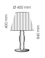 Lampenlux LED Tischlampe Bessy Nachttischlampe Bettleuchte Stoff Orange Schwarz Weiß E27