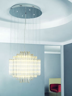 lampenlux pendelleuchte ziro h ngeleuchte chrom glas l ster h henverstellbar 8803 09. Black Bedroom Furniture Sets. Home Design Ideas