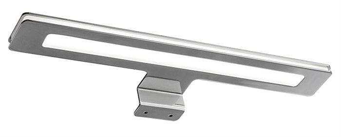 Lampenlux LED Unterbaulampe Unterbauleuchte Midgel silber 7W Spiegel Schrank warmweiß