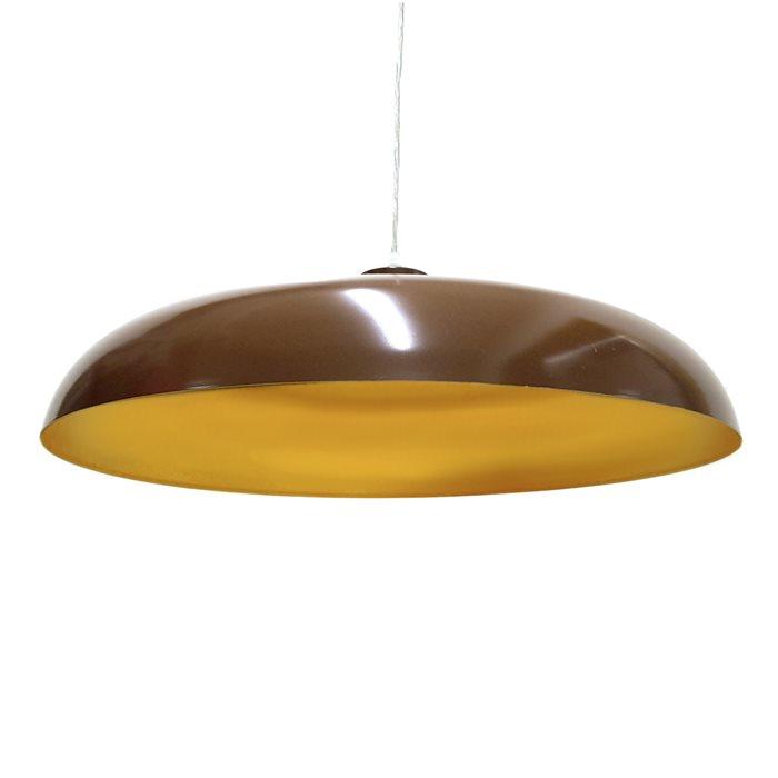 Lampenlux LED Pendelleuchte Doni Hängeleuchte Metallschirm Bauhaus Höhenverstellbar Gold