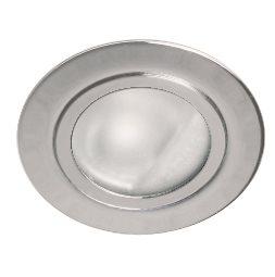 Lampenlux Einbaustrahler Spot Shaqur Rund Glas Ø7.2cm Aluminium 12V AMP Stecker