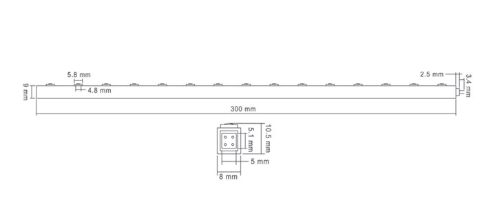 LED Band Strip Gonzo flexibel Weiß 1W breitstrahlend 1W 12V 30cm erweiterbar