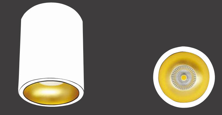 LED Decken Leuchte Lampe Justus Weiß/Schwarz Esszimmer Küche Bad 12W Ø9cm 1100Lm