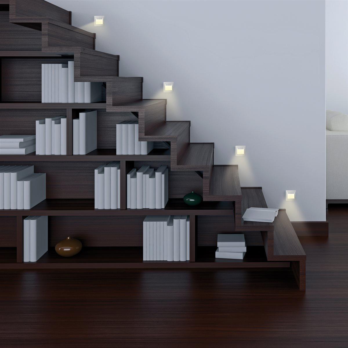 lampenlux led einbaustrahler spot ranma eckig silber 8x8cm inkl einbaubox und trafoeinbauleuchte. Black Bedroom Furniture Sets. Home Design Ideas