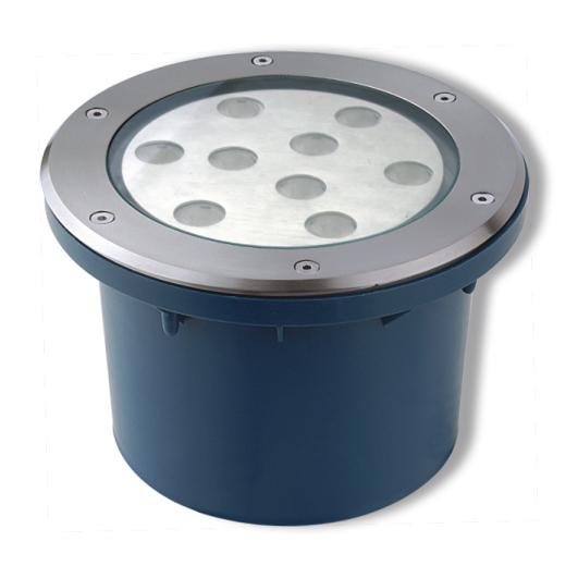 Lampenlux LED Bodeneinbaustrahler Talua 230V Außenleuchte Rund Ø20.8cm Edelstahl