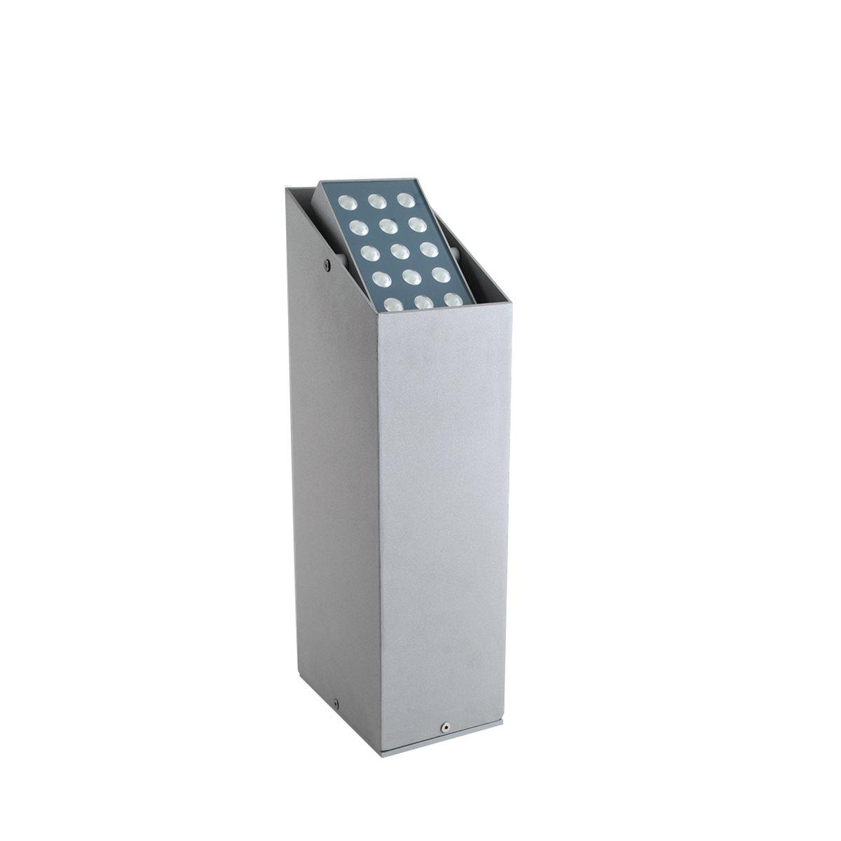 Lampenlux LED Aussenleuchte Idu Gartenlampe Wegeleuchte Eckig Terasse 15W 230V