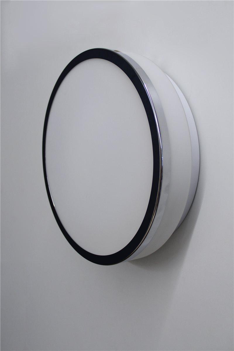 Lampenlux LED Aussenleuchte Danilo 230V Deckenlampe Badlampe Rund Glas Terasse