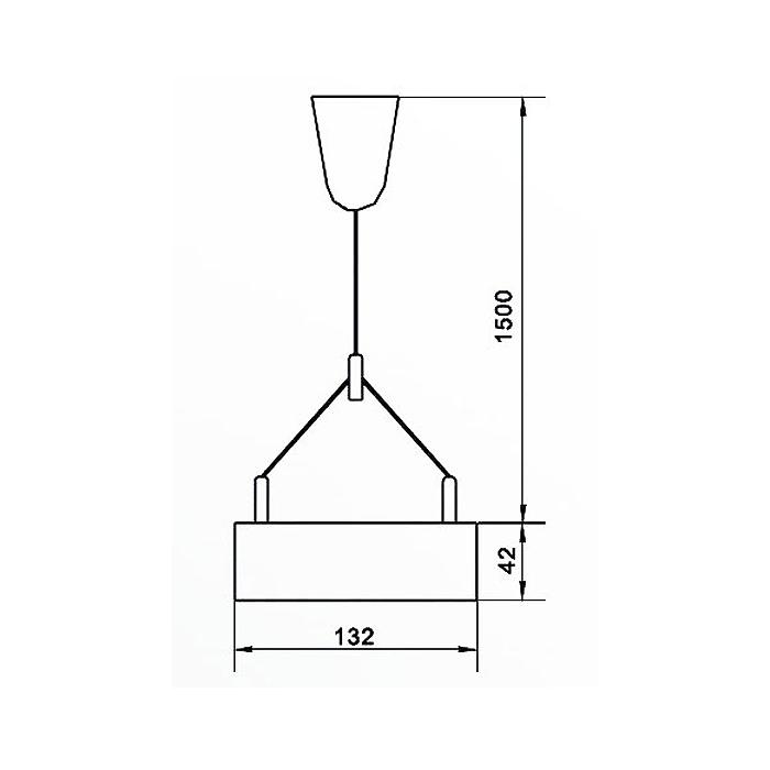 Lampenlux LED Pendellampe Pendelleuchte Anjo Arbeitslicht silber 30W Länge 125cm