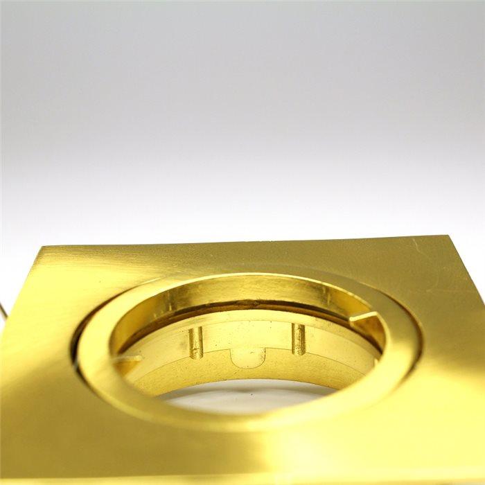 Lampenlux LED-Einbaustrahler Spot Snap eckig Gold geb. schwenkbar 8.2x8.2cm 12V rostfreiEinbauleuchte Einbaulampe Einbauspot Spot Strahler Punktstrahler Aluminium Downlight Down Deckeneinbaustrahler Deckeneinbauleuchte