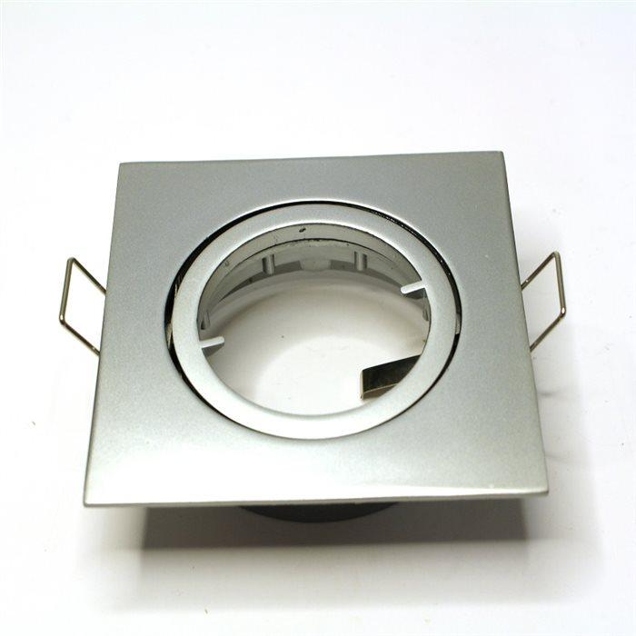 Lampenlux LED-Einbaustrahler Spot Snap eckig Chrom matt schwenkbar 8.2x8.2cm 12V rostfrei