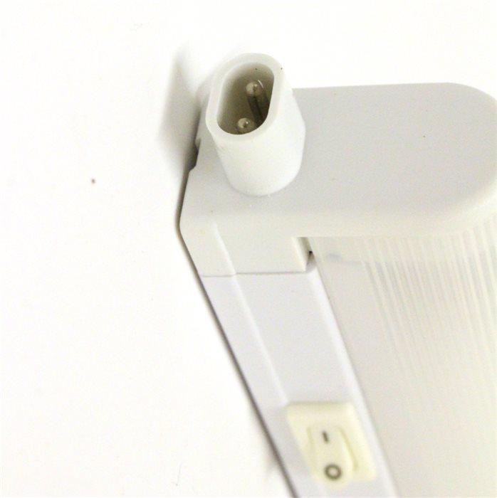 Lampenlux LED Unterbauleuchte Mocky Küchenleuchte Aufbaulampe Weiß Schalter Stromkabel