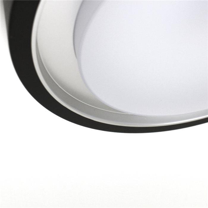 Lampenlux LED Aussenleuchte Diaz Sensor Schwarz Bewegungsmelder Rund Aluminium
